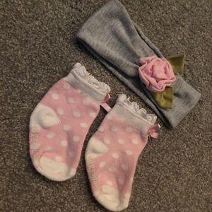 Mudpie headband and socks set of 2